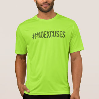No Excuses Motivational #NOEXCUSES GYM T-Shirt