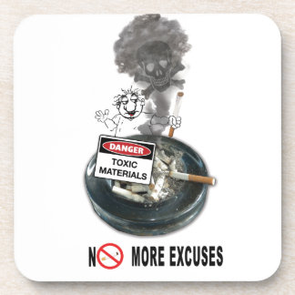 NO EXCUSES Stop Smoking Coaster