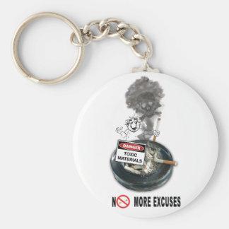 NO EXCUSES Stop Smoking Key Ring