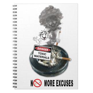 NO EXCUSES Stop Smoking Notebooks