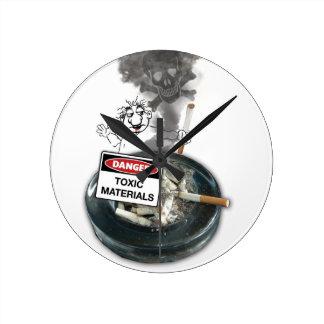 NO EXCUSES Stop Smoking Wall Clock