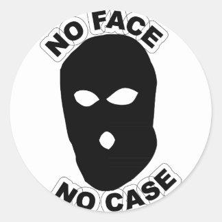 No Face No Case Classic Round Sticker
