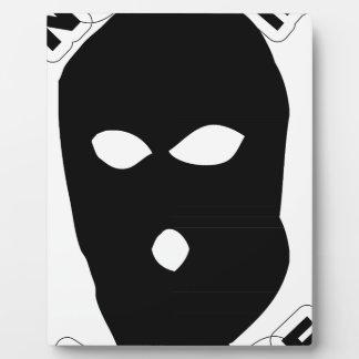 No Face No Case Plaque