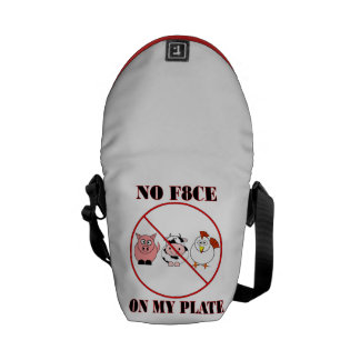 No Face on My Plate Messenger Bag