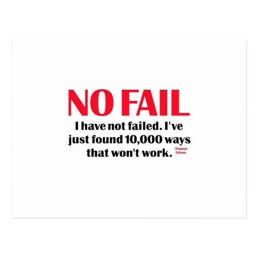 No Fail Postcards