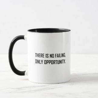 No Failing Only Opportunity Motto Mug