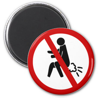 NO Farting ⚠ Funny Thai Toilet Sign ⚠ 6 Cm Round Magnet