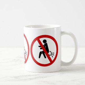 NO Farting ⚠ Funny Thai Toilet Sign ⚠ Basic White Mug