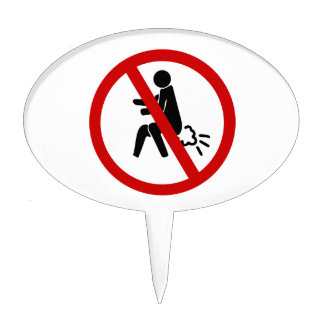 NO Farting ⚠ Funny Thai Toilet Sign ⚠ Cake Topper