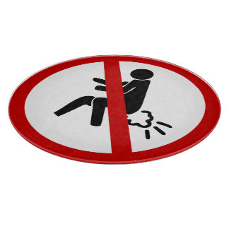 NO Farting ⚠ Funny Thai Toilet Sign ⚠ Cutting Boards