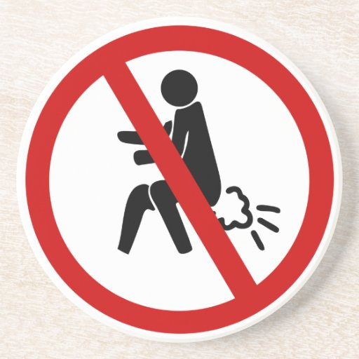 NO Farting ⚠ Funny Thai Toilet Sign ⚠ Beverage Coasters