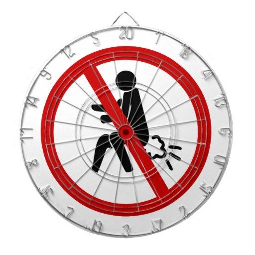 NO Farting ⚠ Funny Thai Toilet Sign ⚠ Dart Board