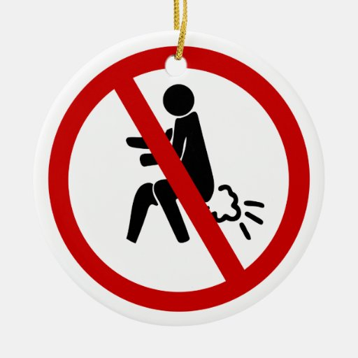 NO Farting ⚠ Funny Thai Toilet Sign ⚠ Christmas Ornaments