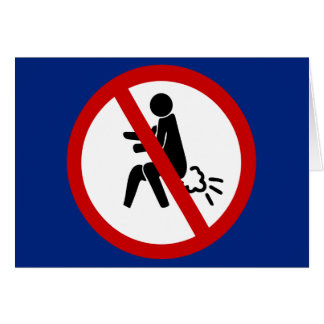NO Farting ⚠ Funny Thai Toilet Sign ⚠ Greeting Card