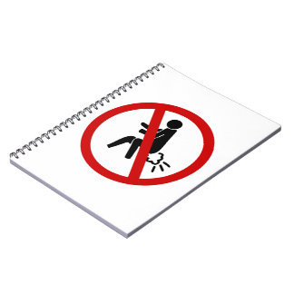 NO Farting ⚠ Funny Thai Toilet Sign ⚠ Spiral Notebook