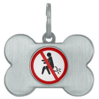 NO Farting ⚠ Funny Thai Toilet Sign ⚠ Pet Tags