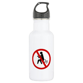 NO Farting ⚠ Funny Thai Toilet Sign ⚠ 532 Ml Water Bottle