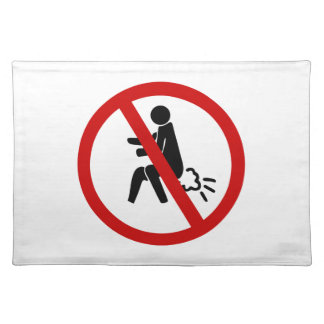 NO Farting ⚠ Funny Thai Toilet Sign ⚠ Placemat