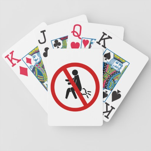 NO Farting ⚠ Funny Thai Toilet Sign ⚠ Playing Cards