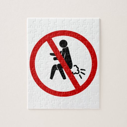 NO Farting ⚠ Funny Thai Toilet Sign ⚠ Jigsaw Puzzles
