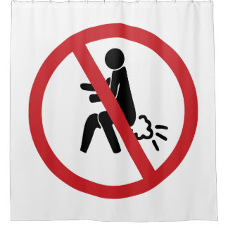 NO Farting ⚠ Funny Thai Toilet Sign ⚠ Shower Curtain