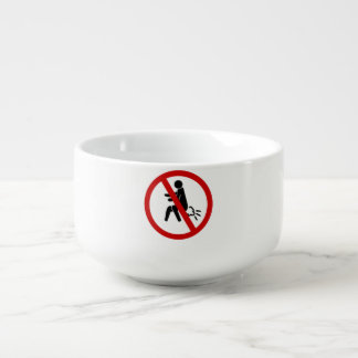 NO Farting ⚠ Funny Thai Toilet Sign ⚠ Soup Bowl With Handle