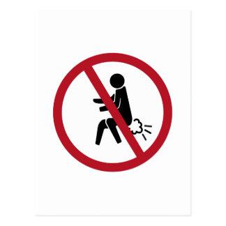 No Farting Sign, Thailand Postcard