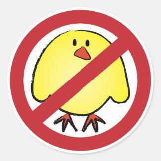 No Fat Chicks! Round Sticker