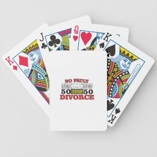 no-fault divorce 50 50 equality bicycle playing cards
