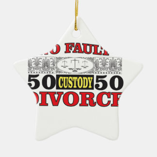no-fault divorce 50 50 equality ceramic ornament