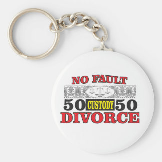no-fault divorce 50 50 equality key ring