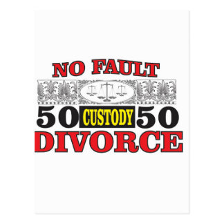 no-fault divorce 50 50 equality postcard