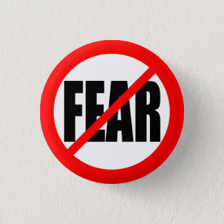 """NO FEAR"" 3 CM ROUND BADGE"