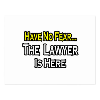 No Fear...Lawyer Post Cards