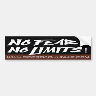 No fear no limits bumper sticker
