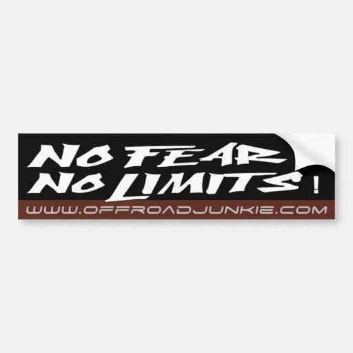 No fear no limits bumper sticker