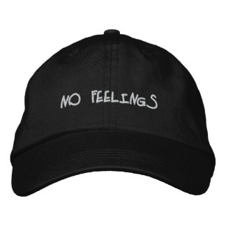 """""""No Feelings"""" Embroidered Hats"""