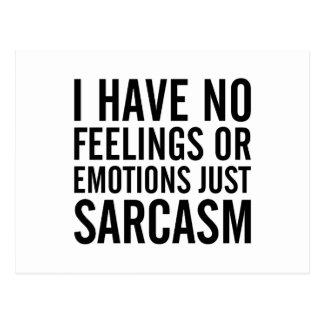 No Feelings or Emotions Postcard