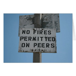 No Fires Greeting Card