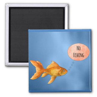 No Fishing Goldfish Magnet
