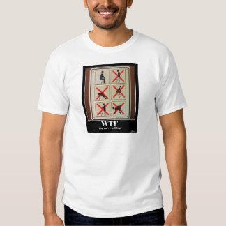 No Fishing WTF T Shirts