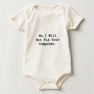 No Fix Computer Baby Bodysuit