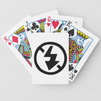 No Flash Photography Bicycle Playing Cards