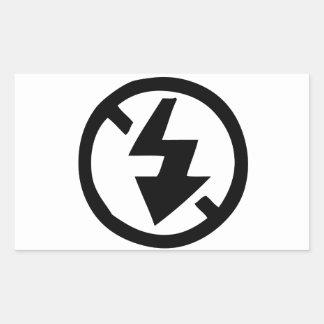 No Flash Photography Rectangular Sticker