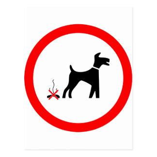 no_fouling_Vector_Clipart dog poo Postcard