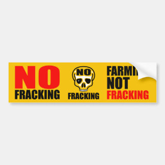 No Fracking Bumper Sticker