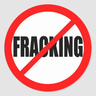 """NO FRACKING"" CLASSIC ROUND STICKER"