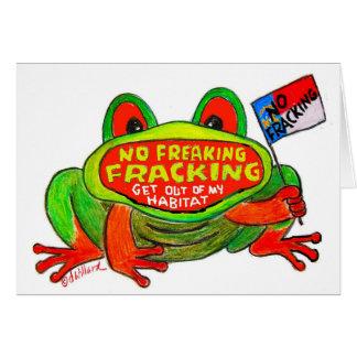 No Fracking in North Carolina FROG card