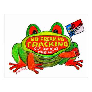 No Fracking in North Carolina FROG card Post Card