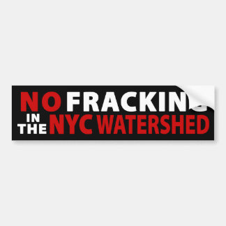 No Fracking NYC Watershed Bumper Sticker (black)